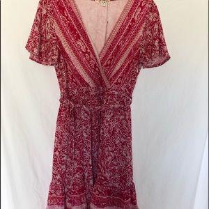 Francescas maimi Red and white dress NWT junior M